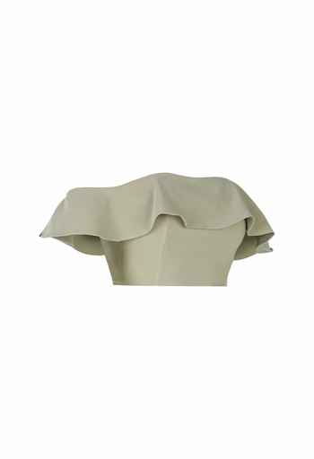 Lola Off Shoulder Corest Top in Olive
